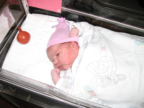 Kara_in_hospital_bassinet
