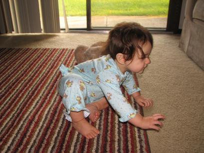Kara_teddy_pjs_crawling