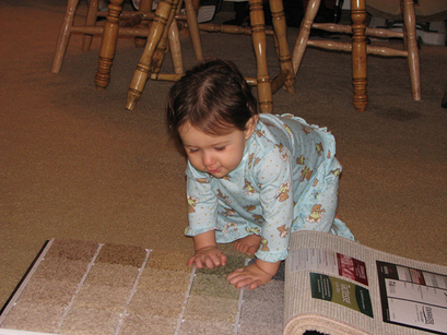 Kara_with_carpet_sample